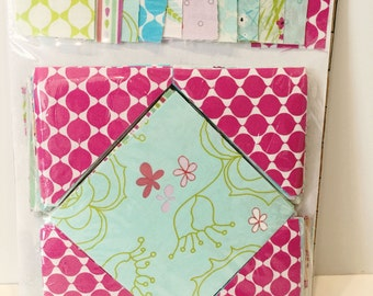 """36"""" x 48"""" Pre-Cut Quilt Kit - ready to assemble - Square in a Square - Party Dress collection by Mo Bedell"""