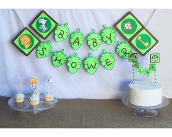 jungle baby shower banner, jungle baby shower decorations, jungle baby shower, jungle baby, jungle back drop, jungle party, jungle birthday