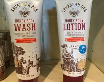 Honey Body Wash and Lotion
