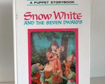 1970 puppet storybook Snow White and the Seven Dwarfs by Tadasu Izawa and Shigemi Hijikato