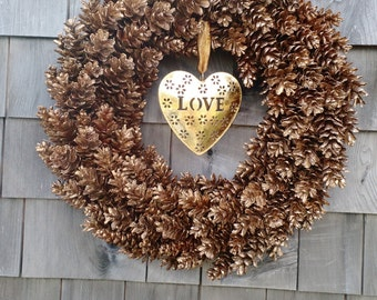 Holiday Wreath -Thanks Giving Wreath Valentines Wreath Year round Wreath