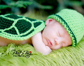 Instant Download PDF Turtle Hat, Diaper Cover, Tail, and Shell Crochet Pattern