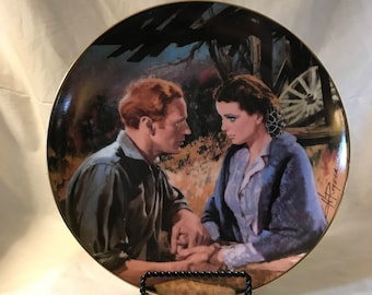 "1988 Howard Rogers ""Scarlett And Ashley After The War"" 'Gone With The Wind' Golden Anniversary Plate #3"