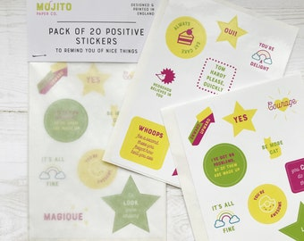 Positivity Stickers to remind you of nice things