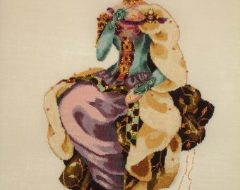 Fall Queen-Mirabilia Completed Cross Stitch