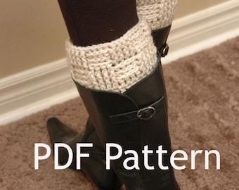 Crochet Boot Cuff PATTERN - Basketweave Boot Cuffs, leg warmers, boot socks, boot toppers, womens boot cuffs