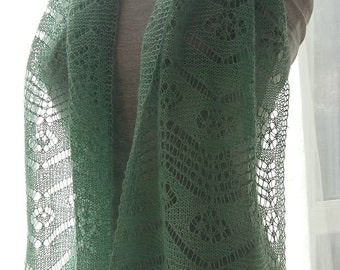 Holm, a Summer Scarf in Shetland Lace PATTERN PDF