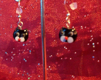 Cute Kitty Face Earrings