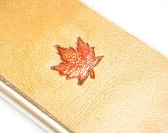 Leather iPhone 8 Case | Autumn Maple Leaf