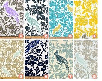 Decorative Throw Pillow Cover, Bird Pillow, Bedroom Pillow, Sofa Chair Pillow/Choose Size Coastal Blue/Purple/Beige/Yellow/Navy/Natural/Gray