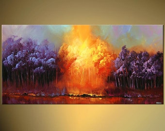 "Modern Art Poster on Photographic Paper - Heaven on Earth - 36""x18"" - Art by Osnat"