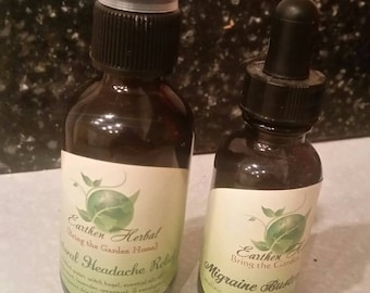 Migraine Relief Duo: Tincture and Aromatherapy Mist