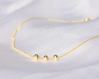 Thin Gold Anklet - dainty gold ankle bracelet, minimalist bracelet,14k gold filled tiny beads anklet, Minimum Jewelry, jewelry gold bracele