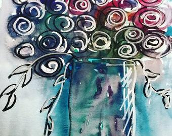 Print...Jewel Bouquet 8 1/2 x 11 print