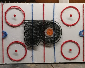 NHL Team Logo String Art - Customize Your Own!