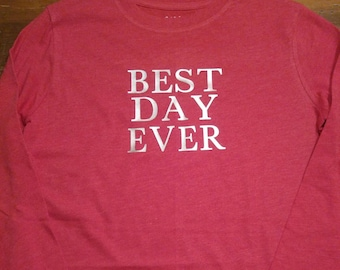 Personalized Youth Birthday Shirt. Boy Tee. Best Day Ever Shirt.