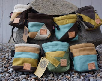 Custom Chalk Bag In Hemp or Cotton Canvas