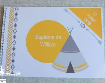 ON order-guestbook essential Indian yellow & gray