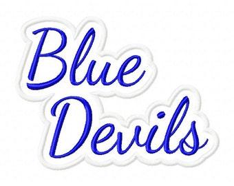 Blue Devils Text  Applique Frame Designs N030