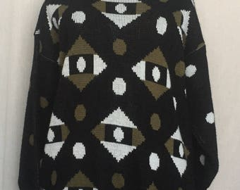 Clifton Place 3/4 sleeve 80's sweater size 3