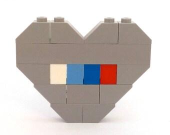 LEGO® Grey Heart Brooch