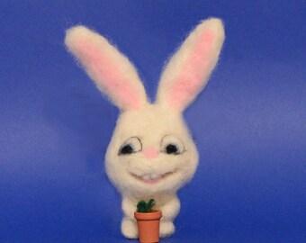 White Rabbit Ornament / Gift / Shelf Sitter / Office Décor / Ready for Shipping