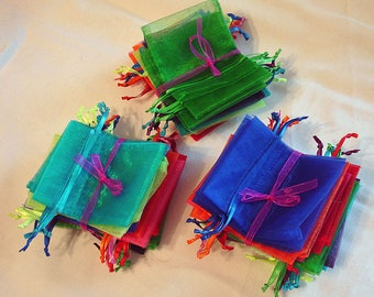 Organza Craft Bags, 3x4, Drawstring Bags, Jewelery Bags, 15 Per Order
