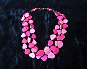 Playa Necklace hand-made with Tagua (vegetable Ivory)