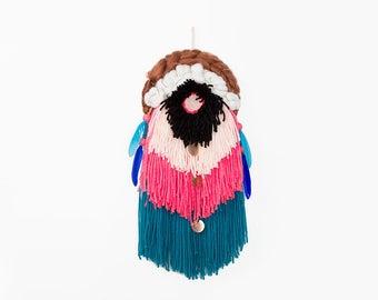 Dream Catcher, Circular weaving, Round weaving, Woven Wall Hanging, Weave Wall Hanging, Fiber Art, Spirial weave