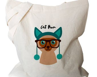 Cat Tote Bags - Tote Bag Canvas - Cat Shopping Bag - Canvas Tote Bag - Cat Gift - Cat Totes