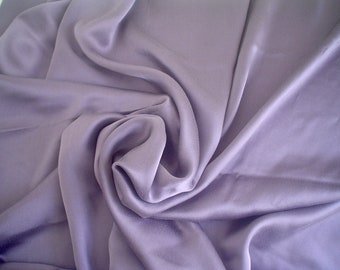 Lavender Silk Charmeuse Fabric Crepe-Back Silk Sandwashed by the Half Yard