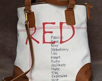 Tote bag, cross body bag, canvas bag, beach bag, casual bag, shopping bag, white bag, weekend bag, white handbag