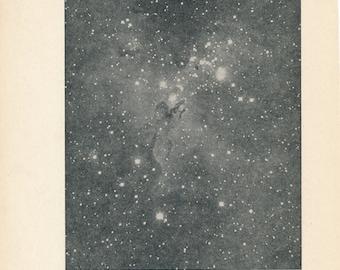 1942 Irregular Nebula in Scutum Vintage Astronomy Print