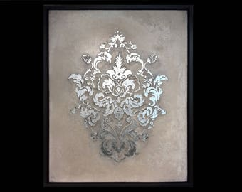 Painting Silver Damask