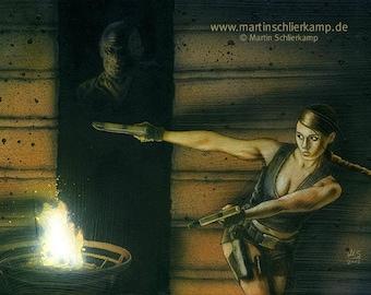 Tomb Raider : Lurker - Painting - Gemälde - Original