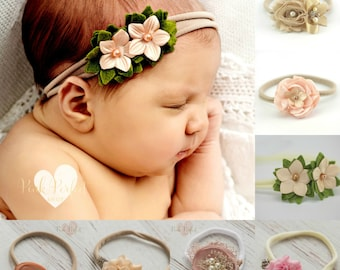 Baby headbands, newborn headband, Nylon headband,Baby girl headbands hair bows ,Baby girl Headband, Baby hair bows, Infant toddler headband.