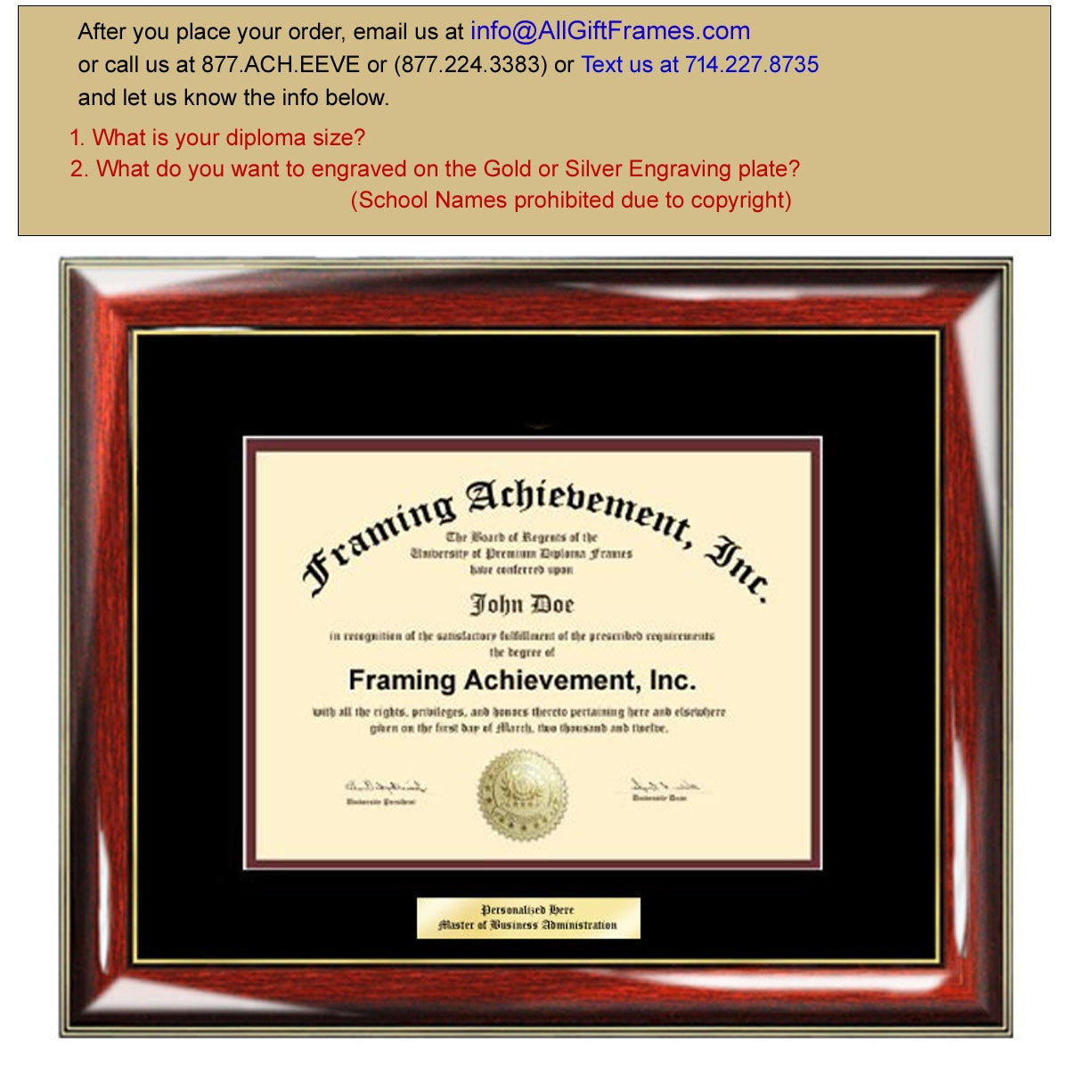 Graduation Diploma Frames - College Diploma Framing Gifts ...
