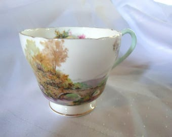 China Tea Cup Shelley England/ Country Keather