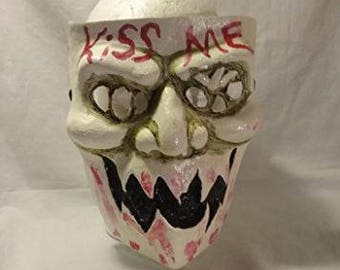 Kiss me mask Inspired by the movie Purge. For halloween party mask.