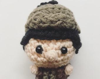 Sherlock Holmes, Amigurumi, crocheted doll, novel character, presentidea, little doll, toy, Detektive, English, England