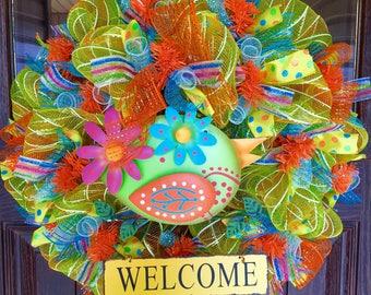Etsy Yellow Summer   Home Decor Wreath Housewarming Gift on Etsy   Door Wreaths By Trina   Wreaths on Etsy   Etsy Wreaths