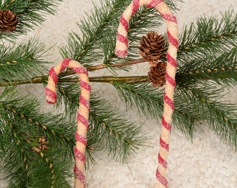 Candy Cane, Candy Cane Ornament, Primitive Candy Cane Ornament
