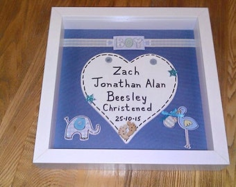 """Personalised """"Baby"""" Heart Box Frame"""
