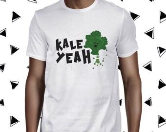 Kale Yeah Tee Vegetarian Tee Funny Vegan Tshirt Vegan Shirt Plant Based Tee Kale Shirt for Men Cute Kale Shirt Herbivore Tee Vegan Men's Tee