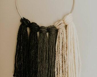 Large Knotted Ring Yarn Hanging / Yarn Hanging