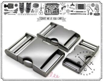 1pc MATTE Black Curved Side Release Buckle for Paracord Webbing Bags Belts Locks Fanny Packs Bracelets Collar - Premium Quality
