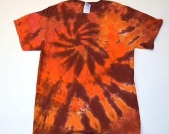 Beaches of Mars ~ Spiral Tie Dye T-Shirt (Gildan Ultra Cotton Size M) (One of a Kind)