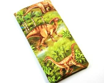 DINOSAUR Fabric bag, Sunglasses case, Cell Phone case, Dinosaur fabric case, Eyeglasses fabric case