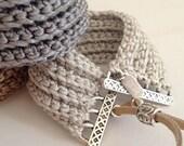 Thick adjustable cuff bracelet