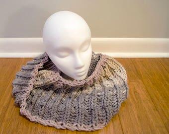 Big Rib Knit Cowl // Vanilla Bean